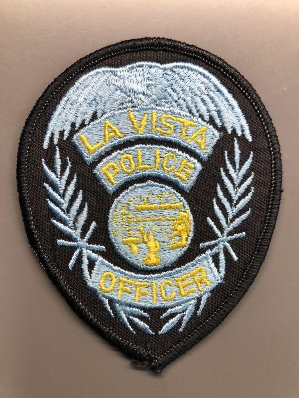 La Vista Nebraska Police Patch ~ Badge Shaped ~ New Condition