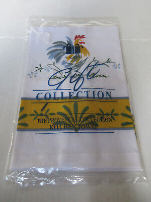 Painted Provence Kitchen - Rooster Kitchen Towel Avon 2001 Provencal Gift Collectible NEW IN SEALED PACKAGE
