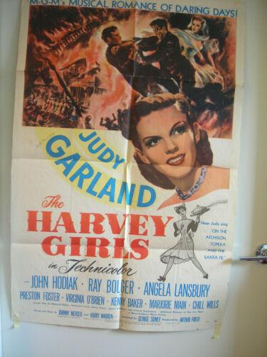 The Harvey Girls 1946 Original One Sheet Movie Poster Judy Garland John Hodiak