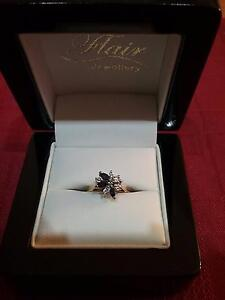Diamond and Saphire 18ct Engagement Ring Ningi Caboolture Area Preview
