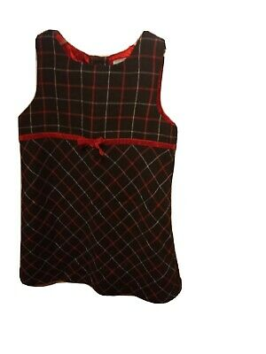 Old Navy Toddler kids Black Plaid christmas holiday Santa Dress Size 2T B19