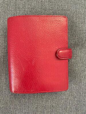 Filofax Red Finsbury Pocket Organizer - Planner - Agenda
