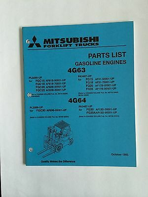 Mitsubshi Forklift Parts Manual 4g63 4g64 Gasoline Engines