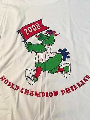 Philly Phanatic World Series (PHANATIC WORLD CHAMPION PHILLIES 2008 MLB TEE SHIRT LARGE FREE SHIPPING )