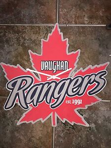 Vaughn Rangers (Hockey) Wall Mounted Clock