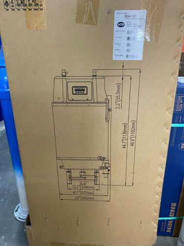 HTP HYBRID WATER HEATER RGH-75F STAINLESS STEEL GAS