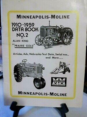 Minneapolis Moline 1910-1959 Data Book No. 2