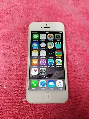 Apple iPhone 5 32GB Silver A1428 (Unlocked) Vintage GSM World Phone VG471