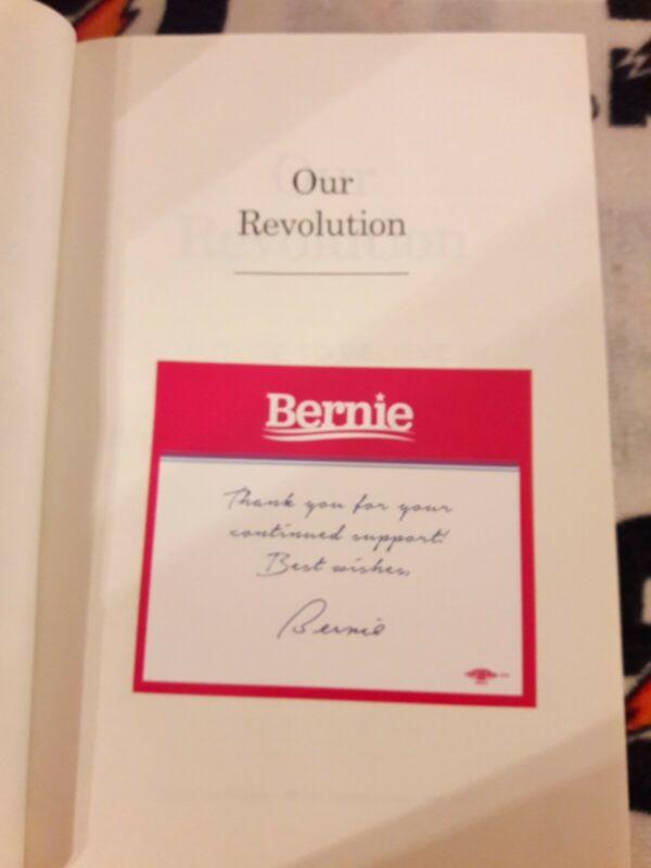 Bernie Sanders SIGNED Our Revolution Autographed Book W CAMPAIGN DONATION LETTER