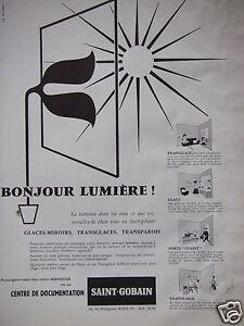 Publicit 1957 saint gobain glaces miroirs transglaces for Saint gobain les miroirs