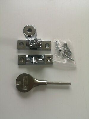 Sash Window Locks With Key Sash Fastners X2 polished chrome