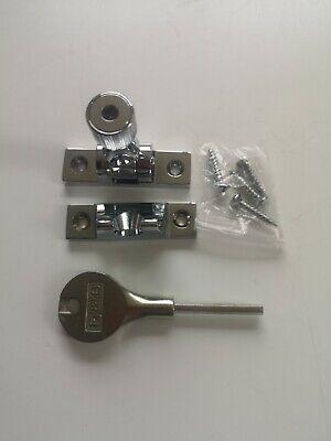 Sash Window Locks With Key Sash Fastners X2 polished chrome