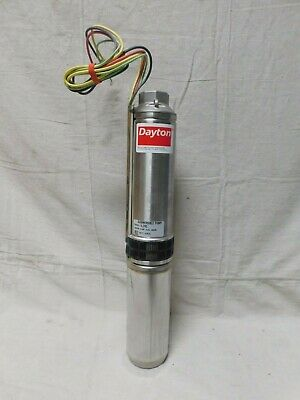 Dayton 12 Hp Submersible Deep Well Pump 230vac Phase Pumps 1