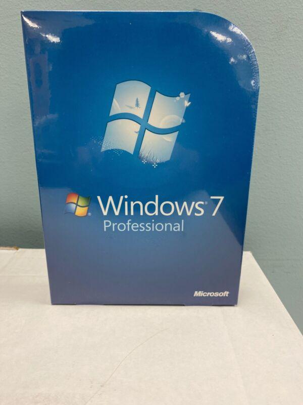Microsoft Windows 7 Professional Pro FULL VERSION FQC-00129 GENUINE Retail OS