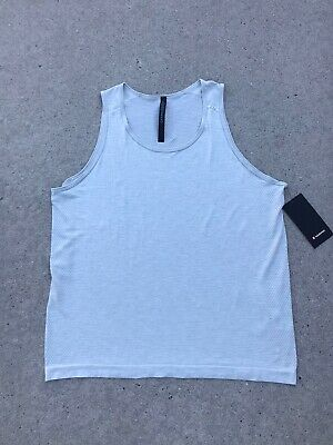LULULEMON Metal Vent Breathe Tank Men's Top Color Ceramic/White NEW w/Tags $68