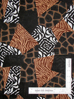 Black Giraffe Skin (Animal Skin Zebra Giraffe Brown Black Cotton Fabric Springs CP38538 By The)