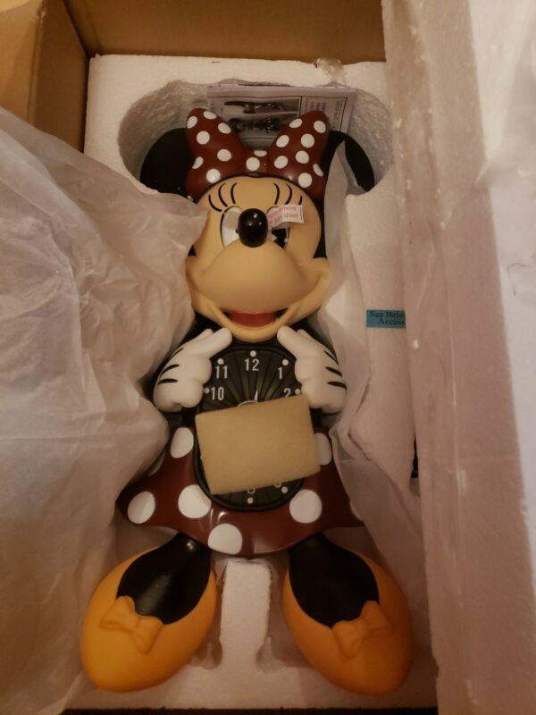 Bradford Exchange Disney Minnie Mouse Motion Clock w Ticking Tail NEW IN BOX