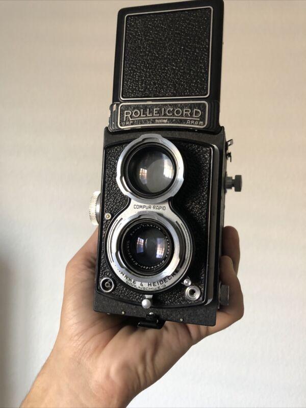 Rolleicord III Schneider-Kreuznach Xenar 1:3.5 75mm TLR Camera With Case [READ]