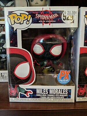 Funko Pop! Spiderman Into the Spiderverse -Casual Miles Morales 529 PX Exclusive