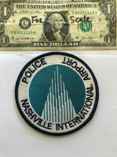 Nashville International Airport Police patch Un-sewn great condition