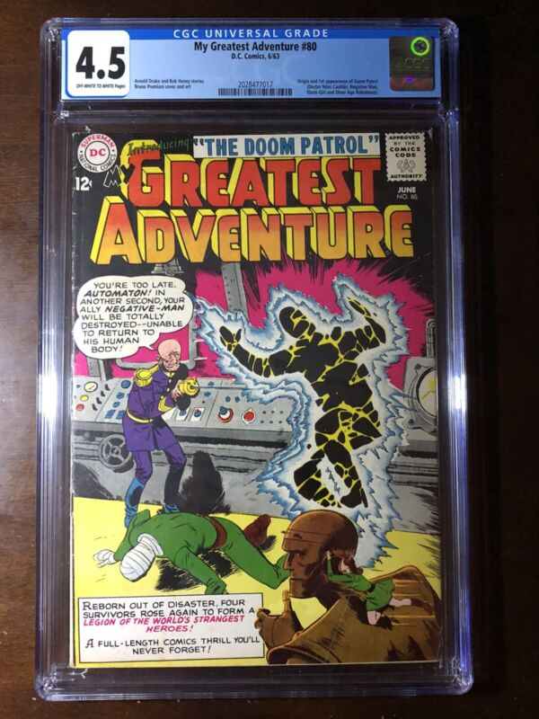 My Greatest Adventure #80 (1963) - 1st Doom Patrol!!! - CGC 4.5 - Key!!!
