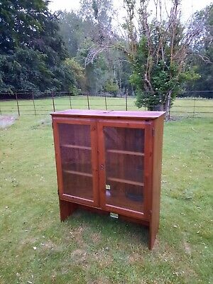 Vintage glass fronted display cabinet by ducal
