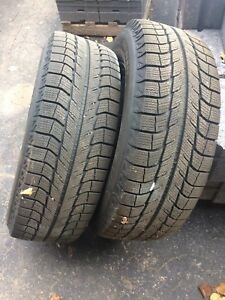 2 Michelin X-Ice Tires on Rims for Sale