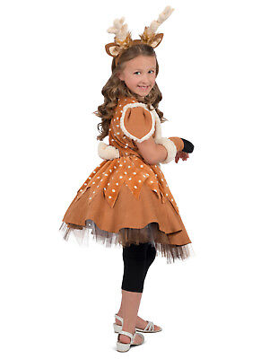 DOE the Deer Princess Paradise Costume Girls 3 4 5 6 7 8 9 10 12 XS S M L XL NEW