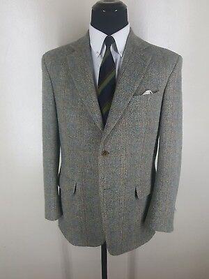 LANDS' END Rare Harris Tweed  Wool Sport Coat 2 Btn. One Vent-42 R- Fit 42R-44 R