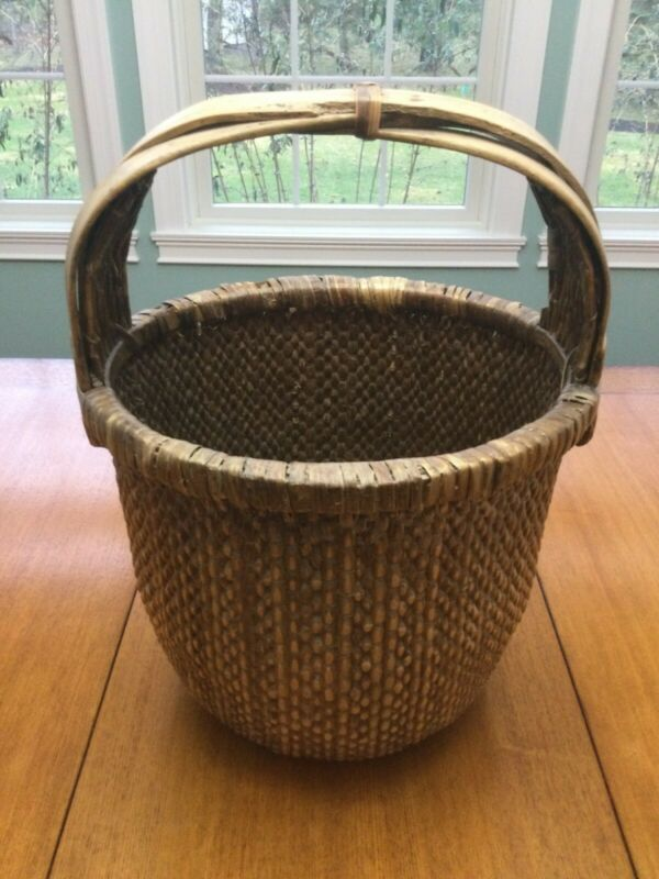 "Chinese Rice Basket - Antique or Vintage - 19"" Tall"