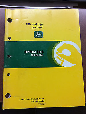 John Deere 430 And 460 Loaders Operators Manual