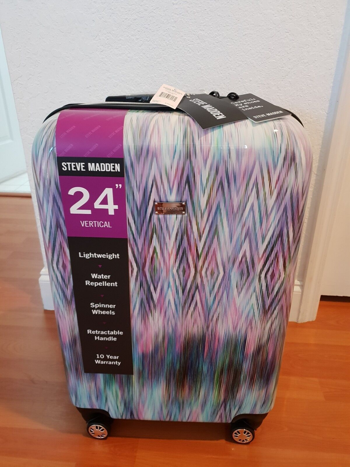 """Steve Madden 24"""" Hardside Suitcase Luggage With Spinner Whee"""
