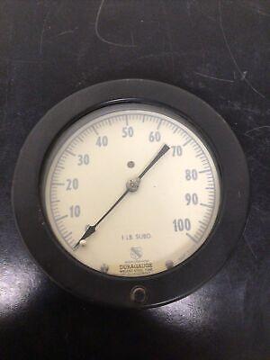 Ashcroft Duragauge Pressure Gage 0-100 Psi
