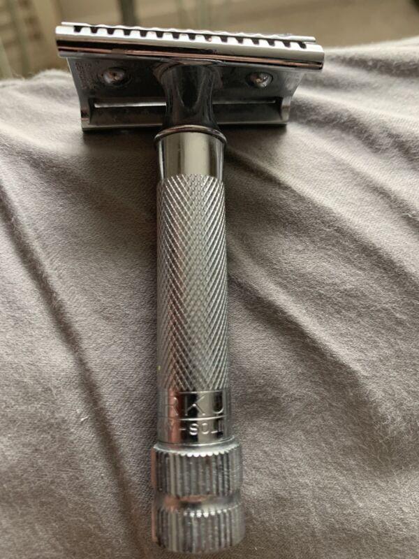 Vintage Merkur Slant Double Edge Safety Razor