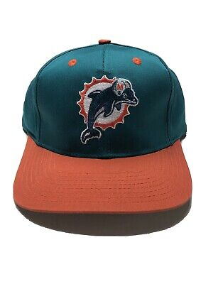 Vintage Miami Dolphins Cap 90's Snapback Logo 7 Officially NFL Football Hat Nice Miami Dolphins Cap