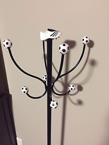 Soccer coat rack