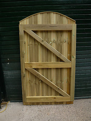 Convex Closeboard Garden Gate MADE TO EXACT WIDTH YOU REQUIRE 6ftH x up to 4ftW