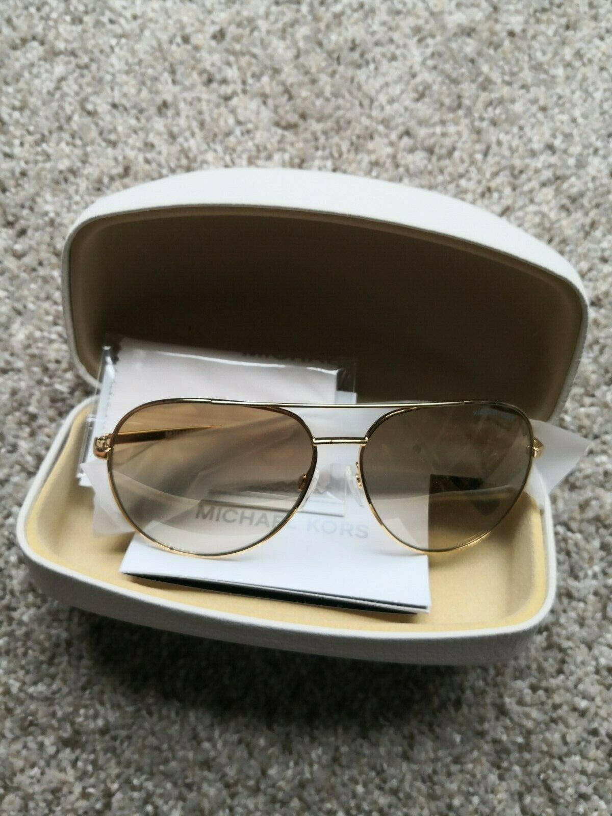 New in Box Authentic Michael Kors Womens Sunglasses Aviators