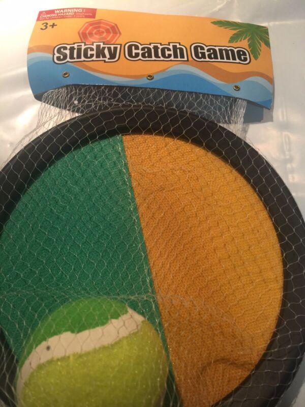 1 Sticky Throw & Catch Tennis Ball Game Outdoor Beach Garden Play Ball Toy Gift