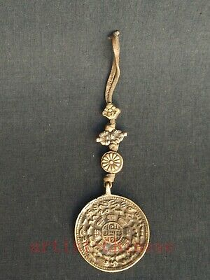 Collection Chinese Tibet Copper Carving Zodiac Statue Tibetan Amulet Pendant