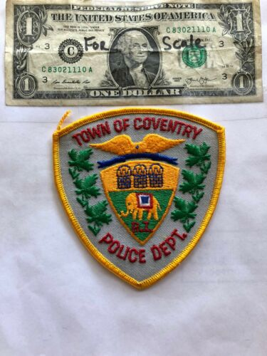 Coventry Rhode Island Police Patch Un-sewn great shape