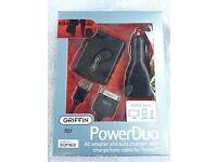 New Griffin PowerDuo Wall Car Charger Sync cable for Sansa e270 e280 30 pin e200