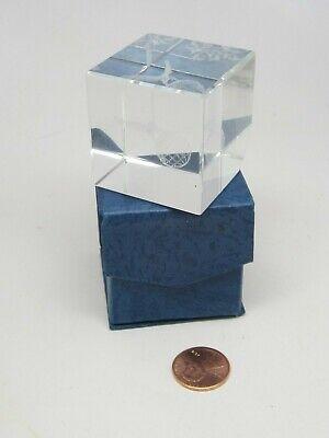 Eagle Laser Crystal (Corner Cut Eagle&Globe 3 D Laser Etched Solid Glass Crystal 1.5