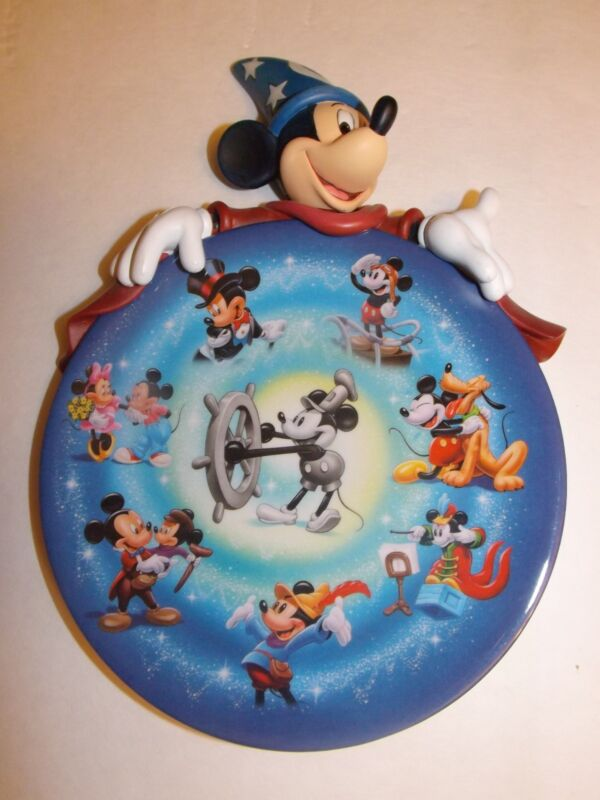 Disney The Magic Of Mickey 75th Anniversary Limited Edition Bradford Plate