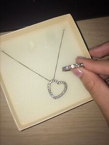 70$ necklace from charms and a real diamond ring