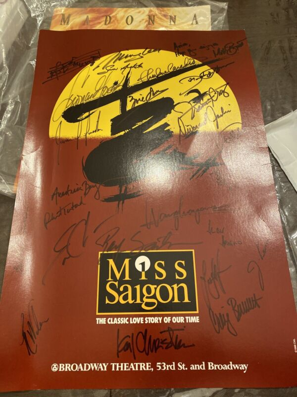 Miss Saigon Poster Signed By Cast