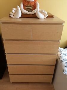 Bedroom set IKEA 5 drawer dresser +single bed/matress