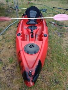 3 metre Fishing Kayak Quality with paddle - like new hardly used