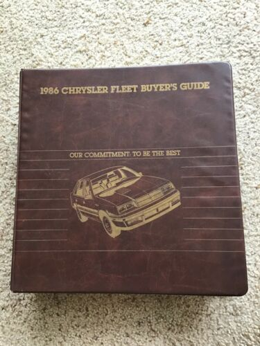 1986  Chrysler fleet buyers guide album with Shelby Charger and  Omni GLH turbo