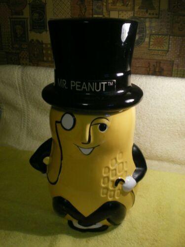 RARE Vintage Mr. Peanut Ceramic cookie jar 1990